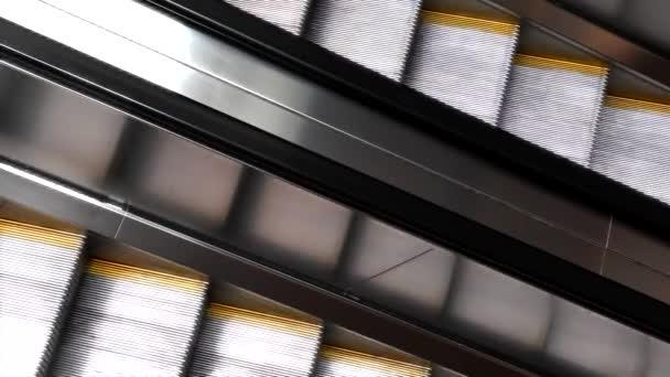 Video Escalators Moving Stairs U2014 Stock Video