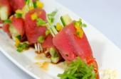 Sashimi tekercs friss japán konyha