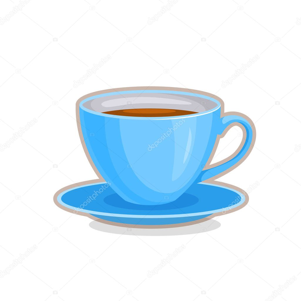 Vector illustration of teacup