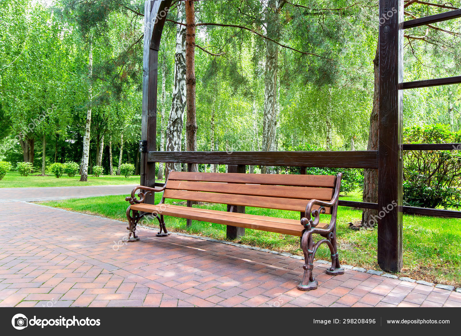 Cool Bench Iron Legs Wooden Seat Board Pergola Arch Garden Green Forskolin Free Trial Chair Design Images Forskolin Free Trialorg