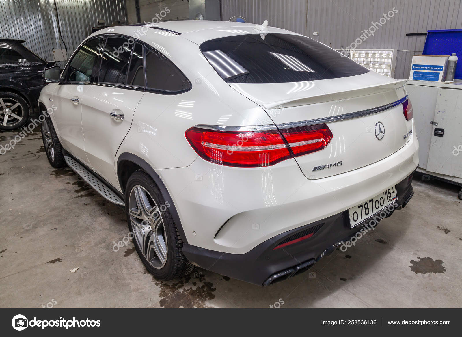 Rear View Of Luxury Very Expensive New White Mercedes Benz Gle C Stock Editorial Photo C Aleksandrkondratov 253536136