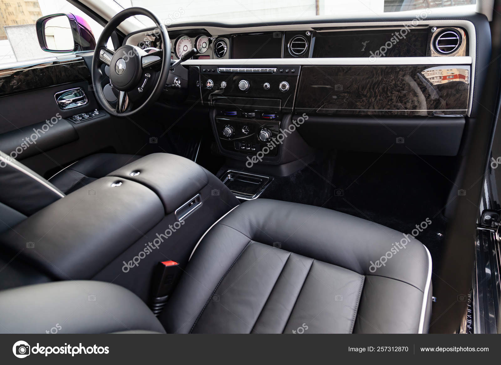 Interior View Of New A Very Expensive Rolls Royce Phantom Car A Stock Editorial Photo C Aleksandrkondratov 257312870