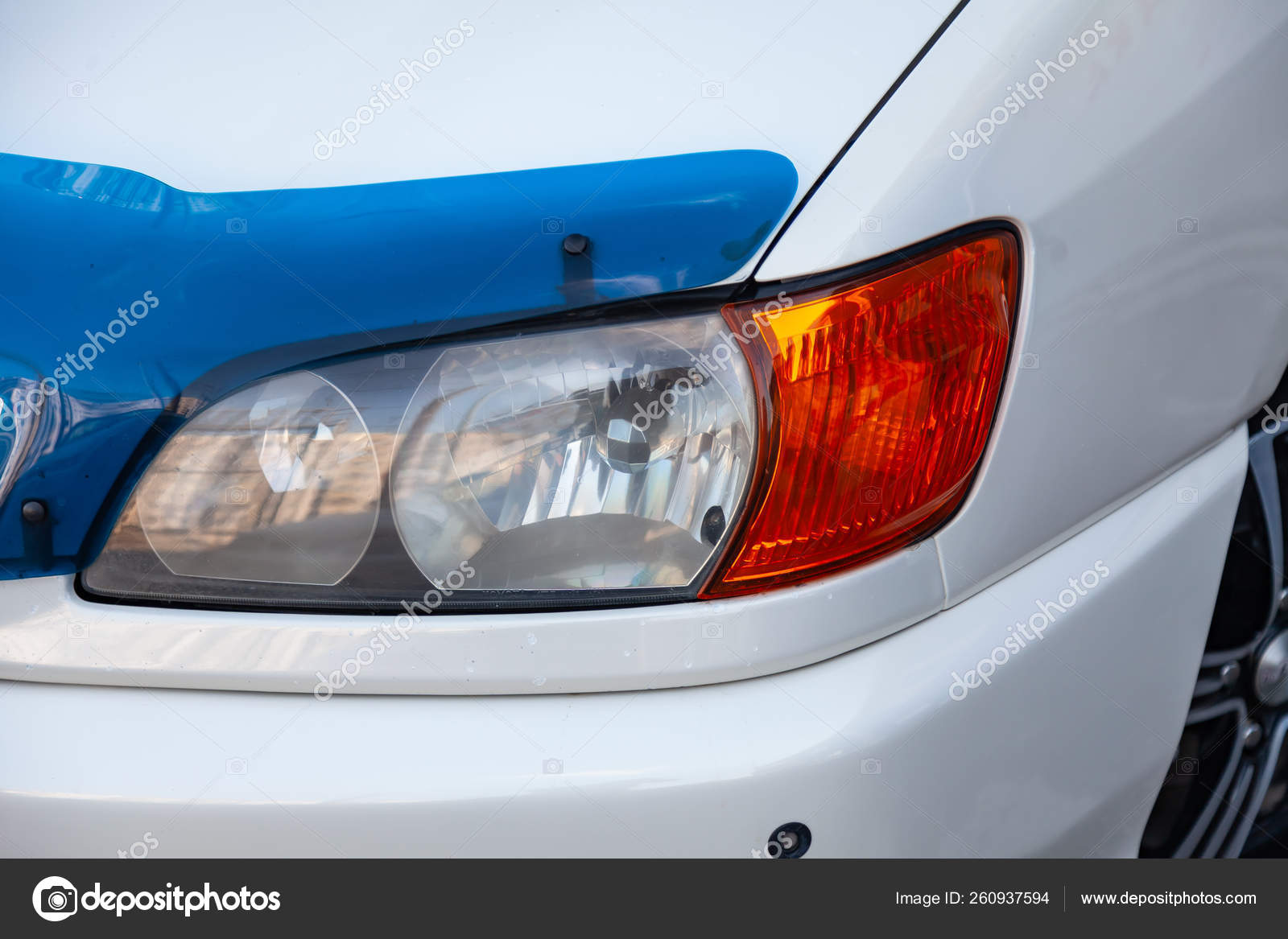 Front View Of Car In White Color After Cleaning Before Sale On P Stock Editorial Photo C Aleksandrkondratov 260937594
