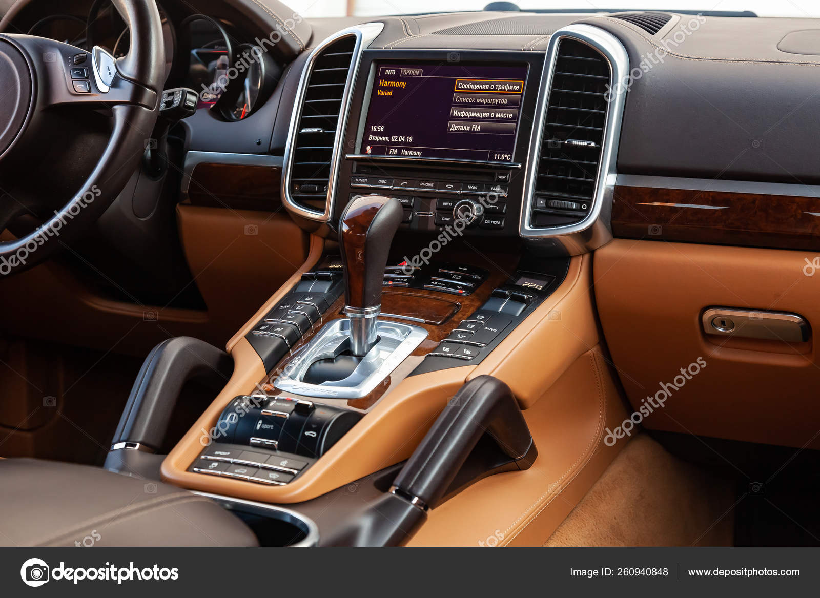 The Interior Of The Car Porsche Cayenne 958 2011 Year With A Vie Stock Editorial Photo C Aleksandrkondratov 260940848