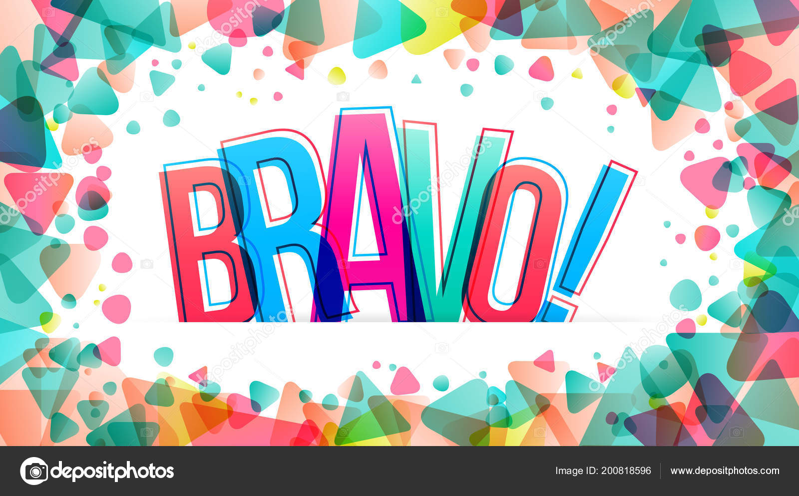 46f4c44a92 Bravo Word Vector Illustration — Stock Vector © eightshot  200818596