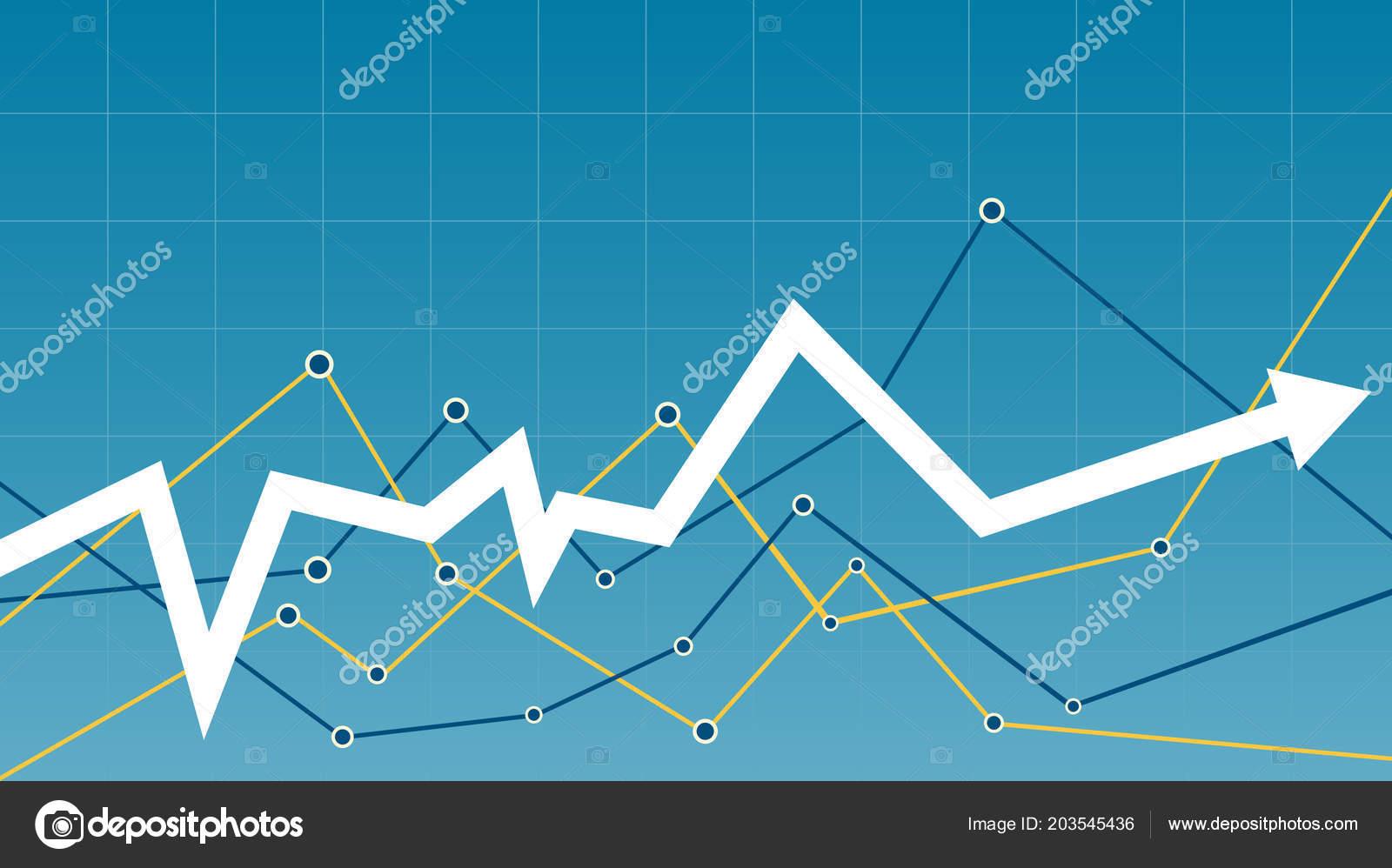 r u00e9sum u00e9 financier graphique avec fl u00e8che  u2014 image vectorielle eightshot  u00a9  203545436
