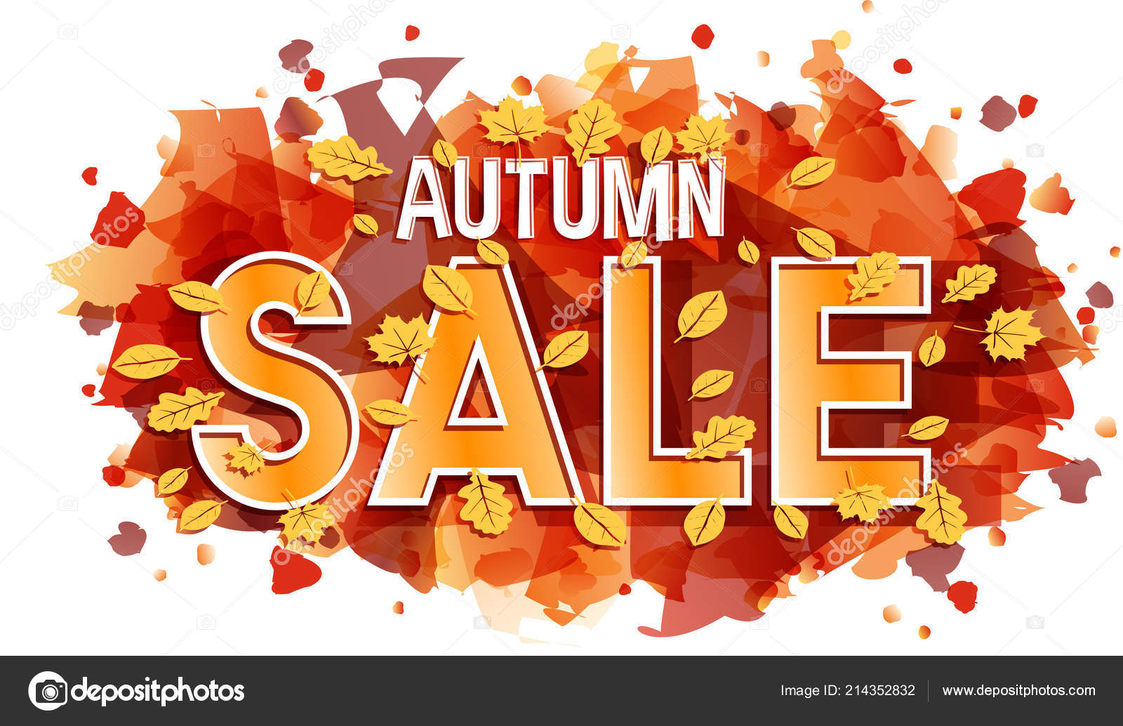 autumn sale vector banner card stock vector eightshot 214352832