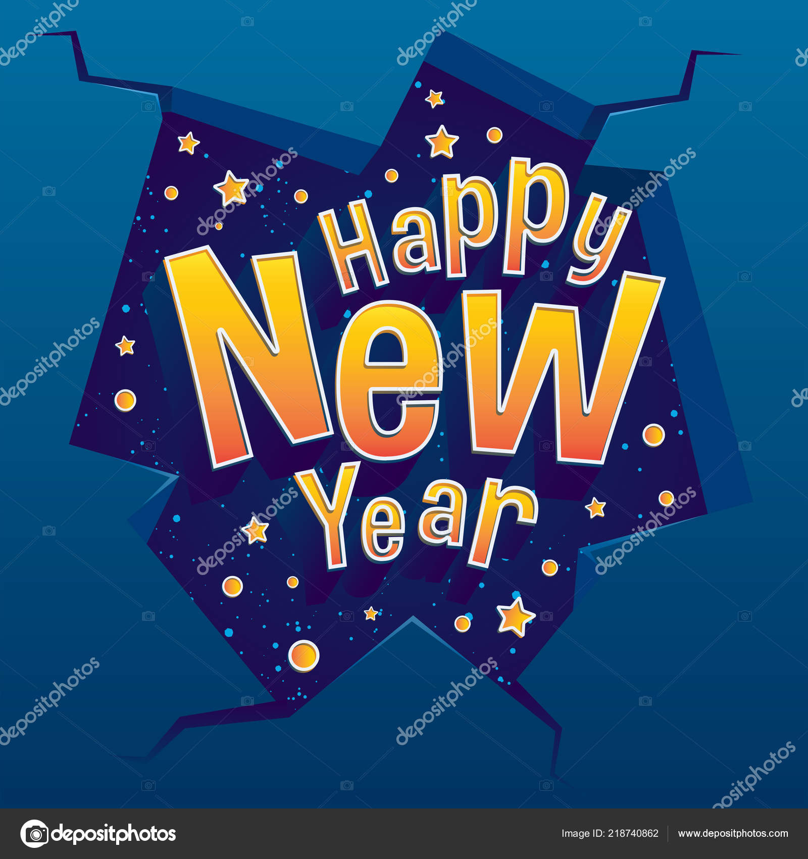 happy new year greeting card text happy new year dark stock vector