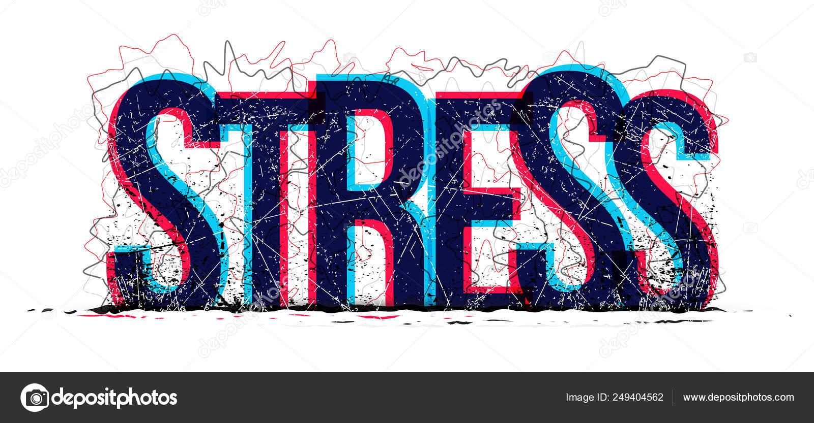 Stress Word Vector Creative Banner Stock Vector C Eightshot 249404562
