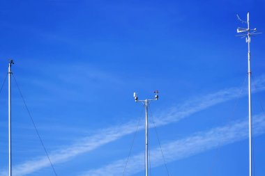 Meteorological instruments for measuring the wind speed, temperature and humidity