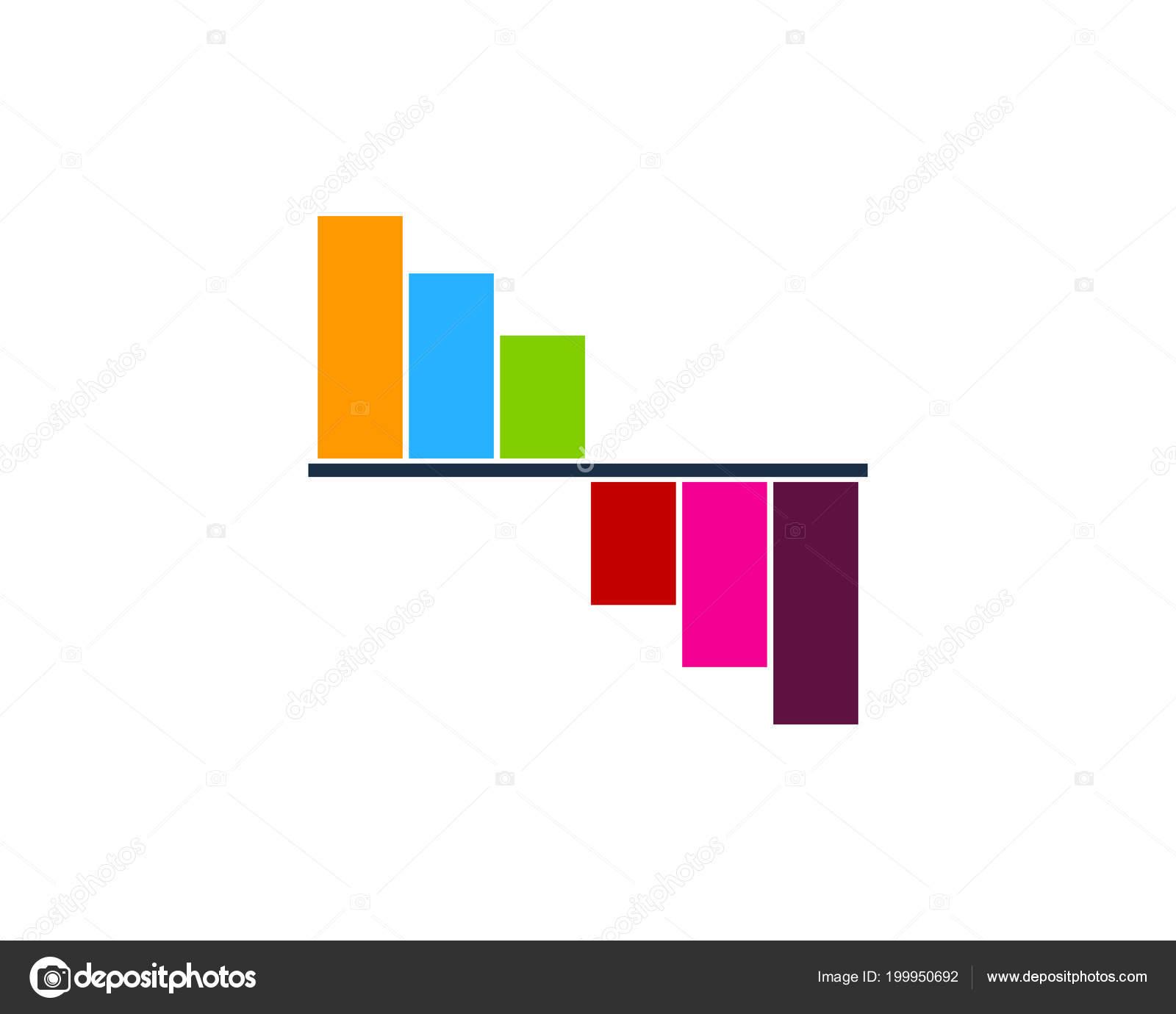 Report Stock Market Icon Logo Design Element — Stock Vector
