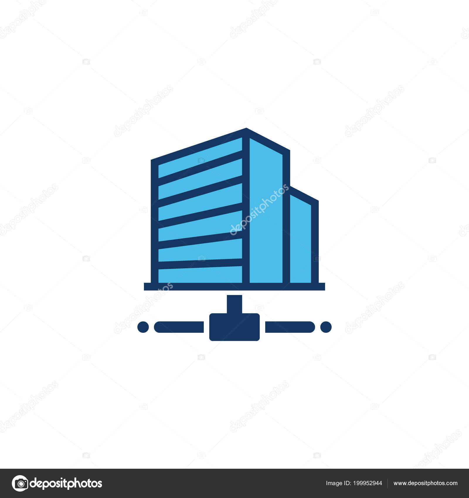 building server logo icon design stock vector putracetol 199952944