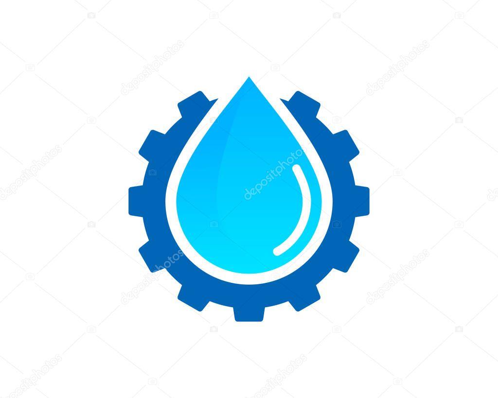 Wheel Water Logo Icon Design