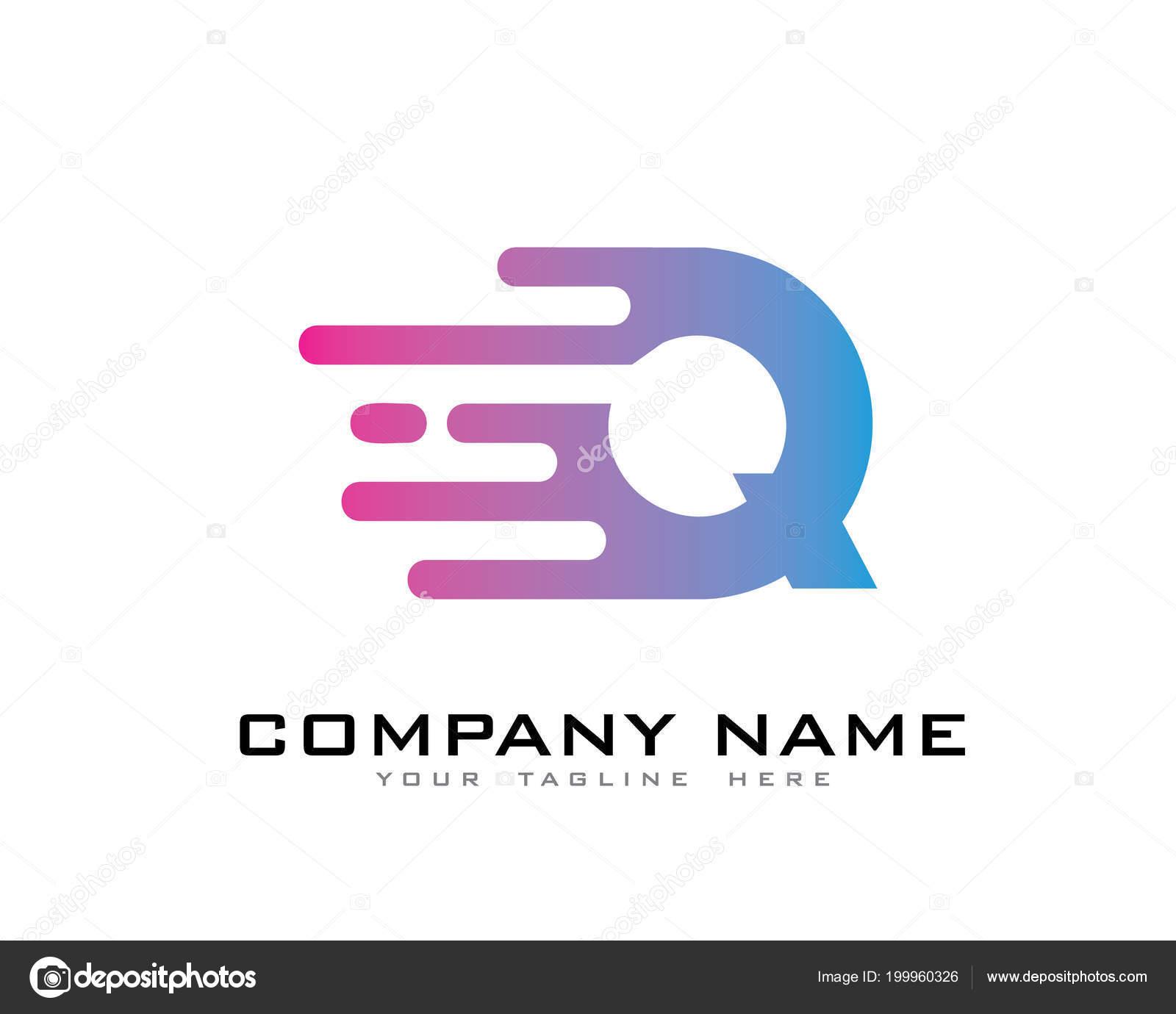 ab2e10c6c Elemento Modelo Movimento Velocidade Linha Letra Logo Design — Vetor de  Stock