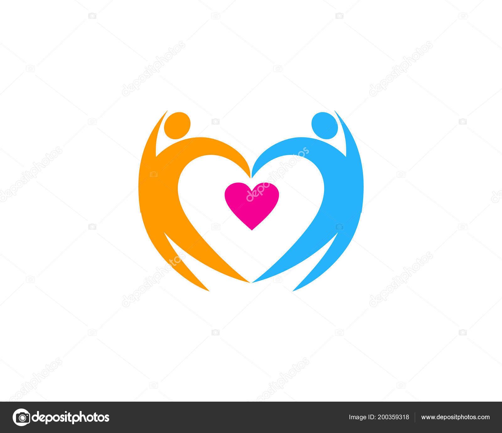 48c8cbba4d9a Дизайн Иконок Логотип Романтический Человек — Векторное изображение ...