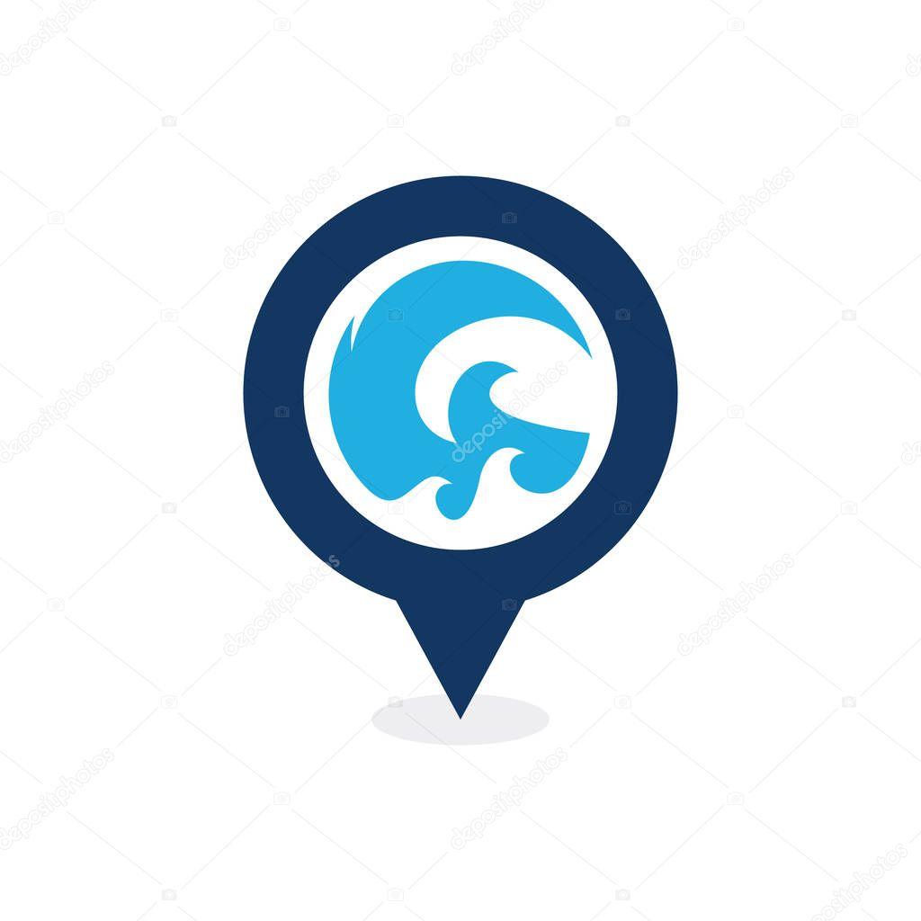 Wave Point Logo Icon Design