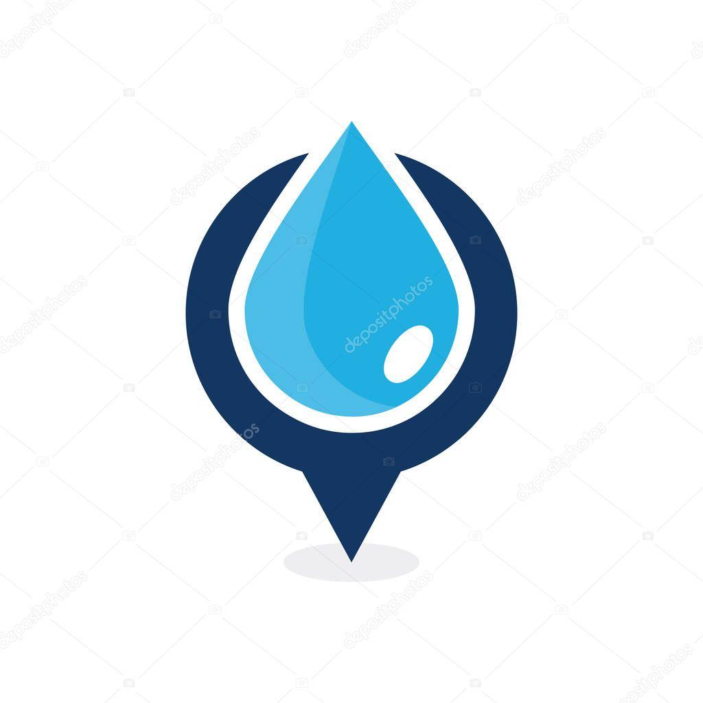 Water Point Logo Icon Design