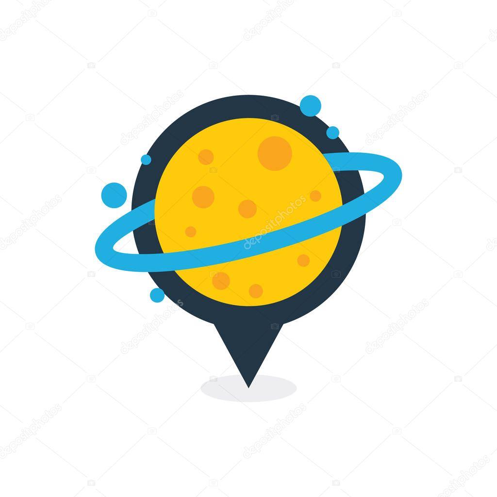 Planet Point Logo Icon Design