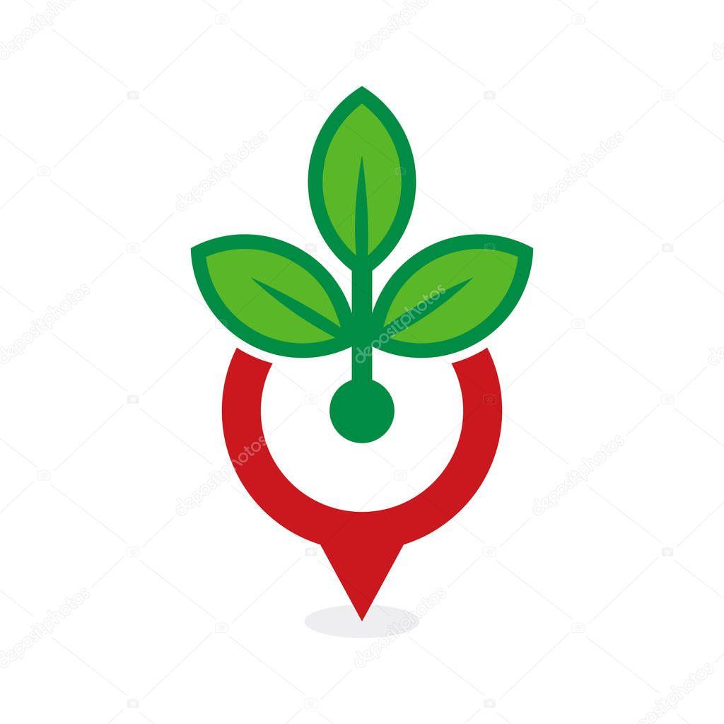 Eco Point Logo Icon Design