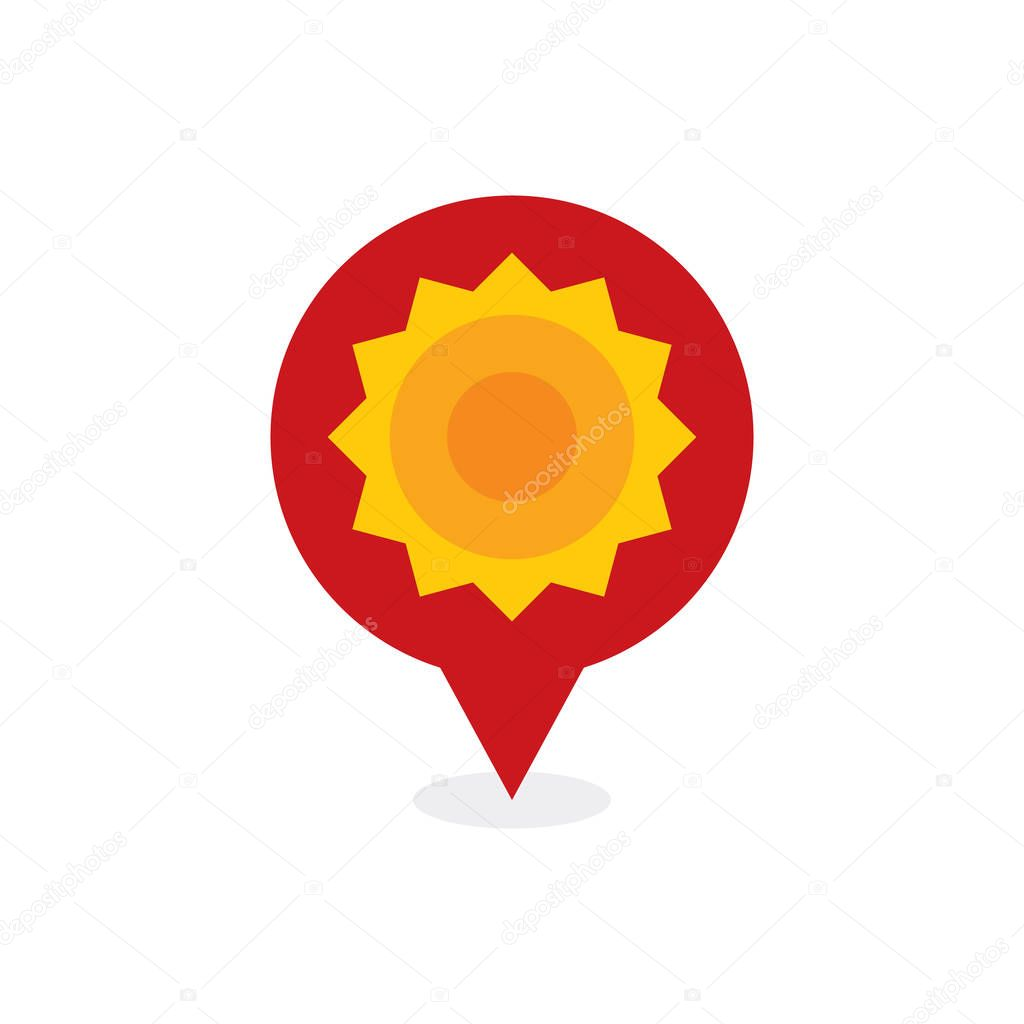 Sun Point Logo Icon Design