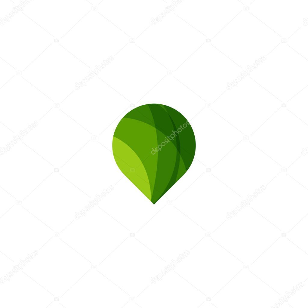 Green Pin Point Logo Icon Design