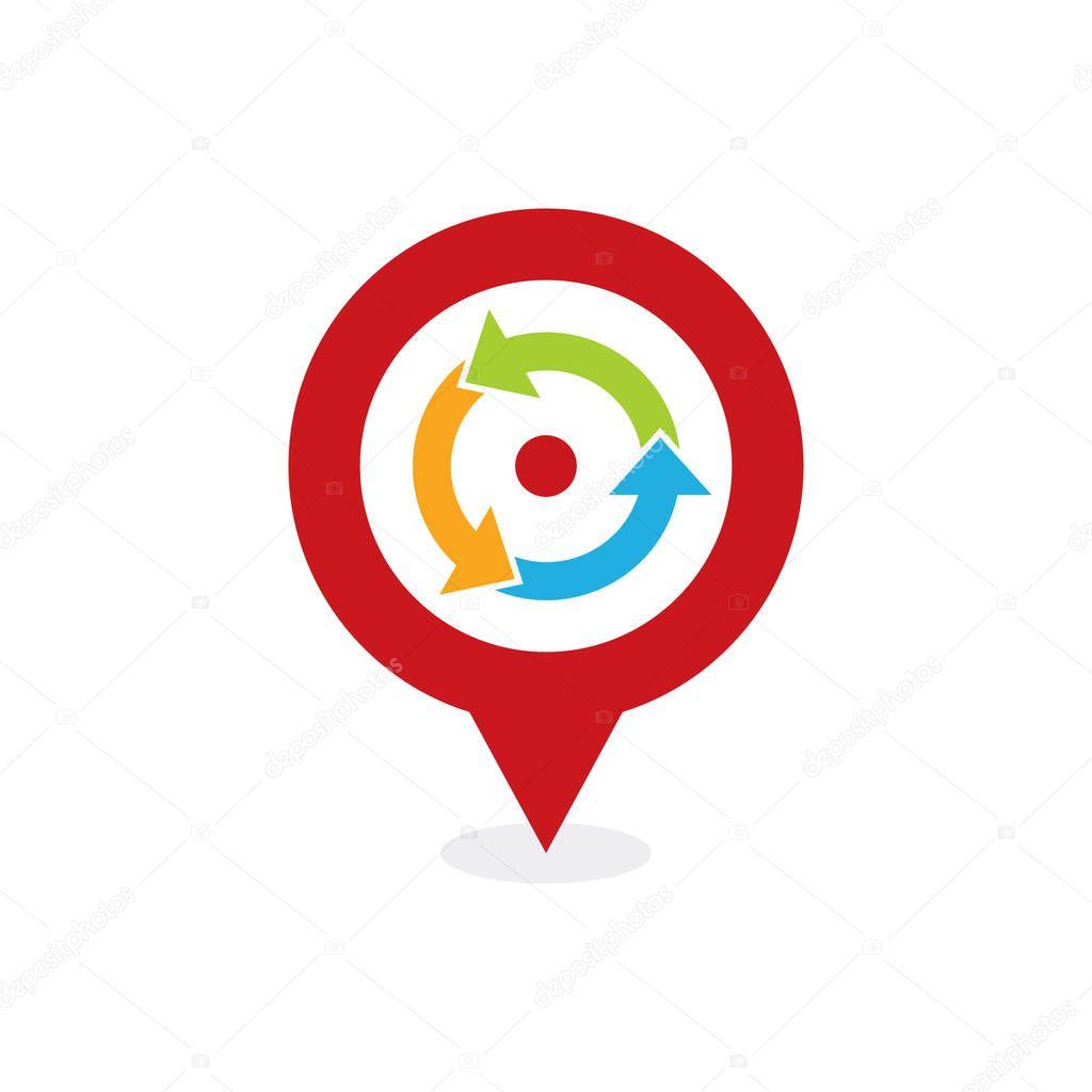 Recycle Point Logo Icon Design