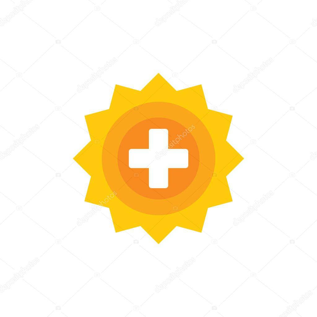 Sun Medical Logo Icon Design