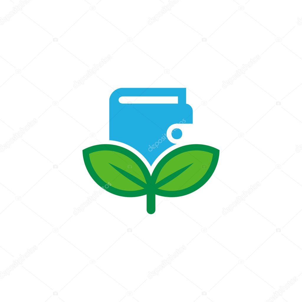 Wallet Nature Logo Icon Design