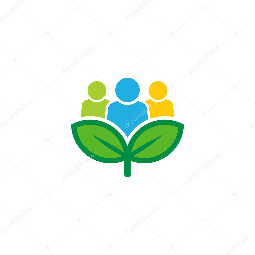 Group Nature Logo Icon Design