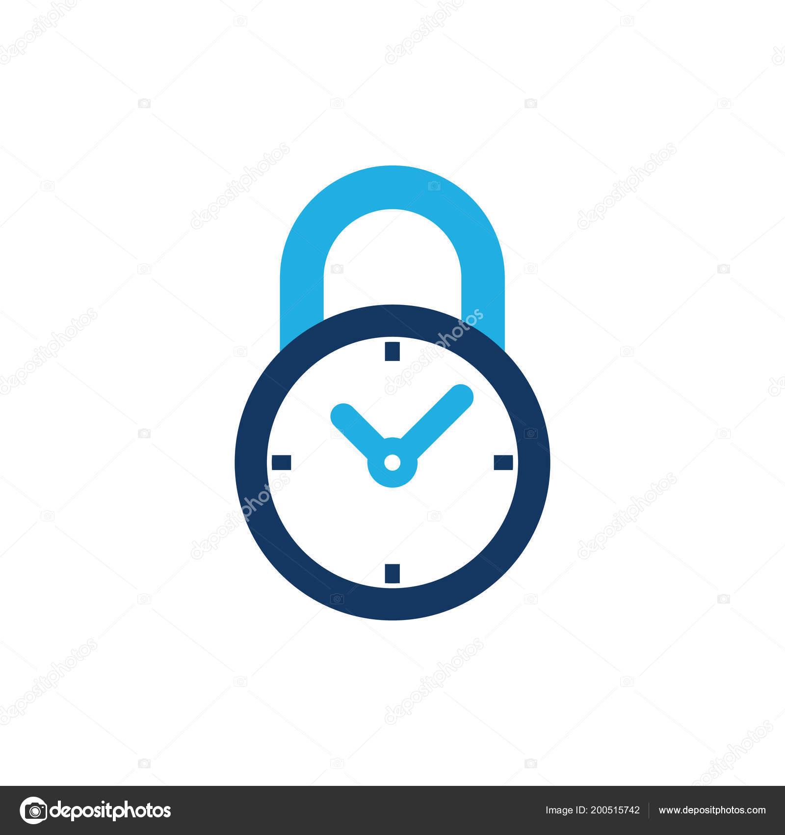Time Lock Logo Icon Design — Stock Vector © putracetol #200515742