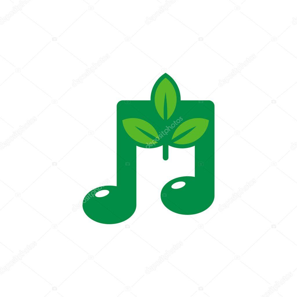 Nature Music Logo Icon Design