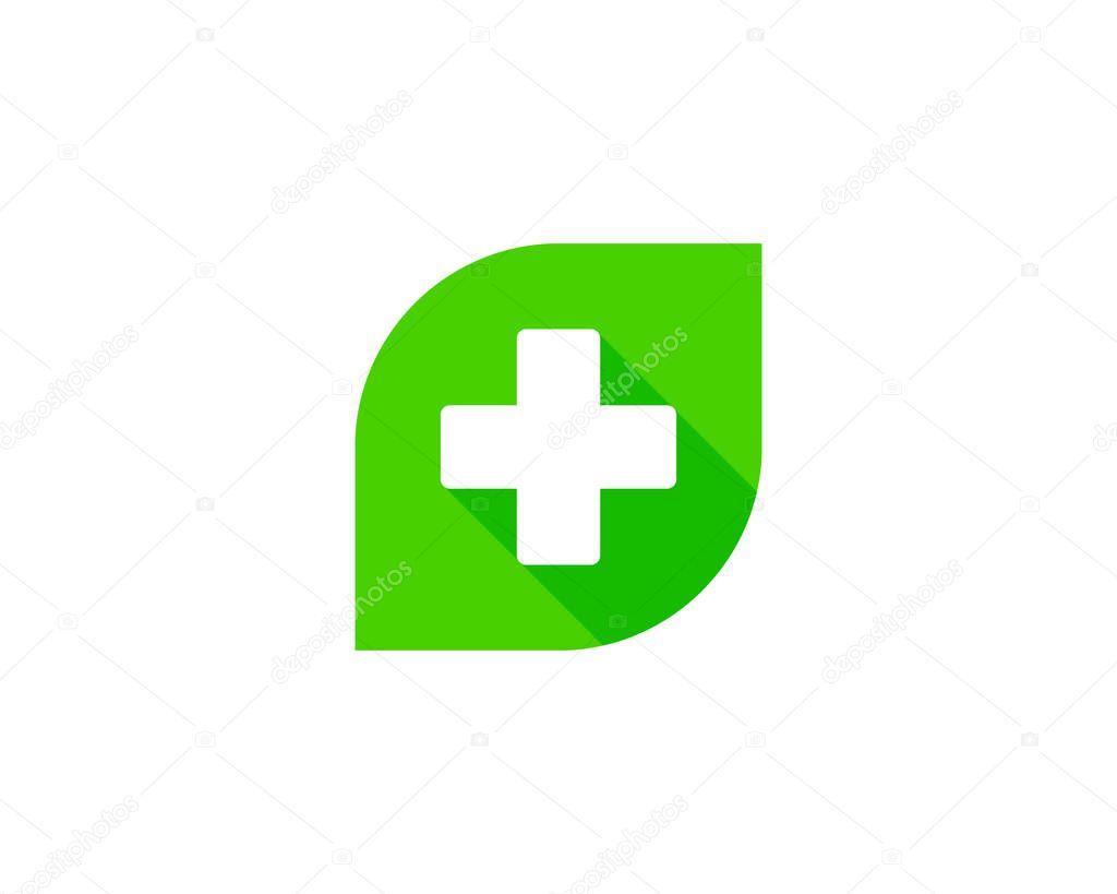 Eco Medical Logo Icon Design