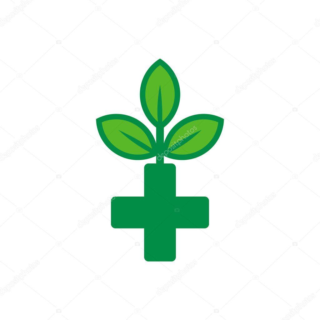 Eco Medicine Logo Icon Design