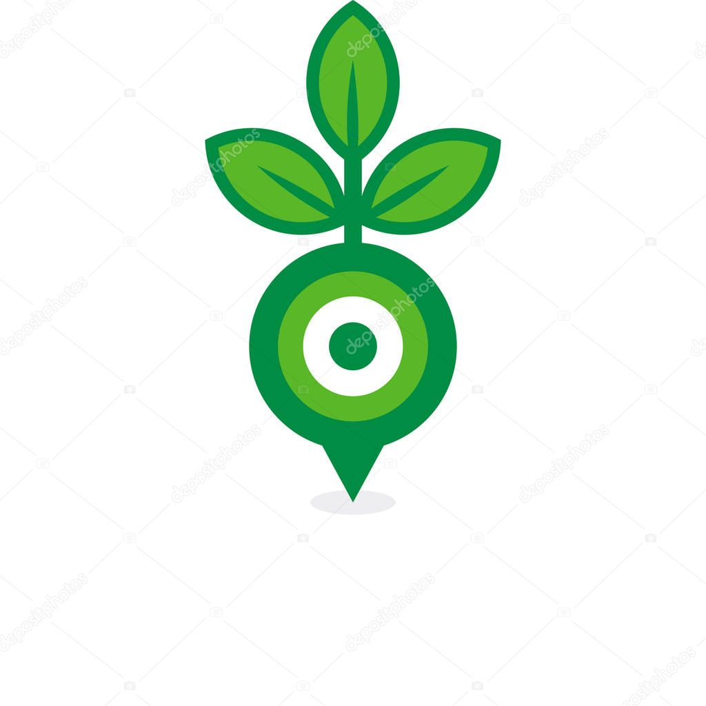 Pin Nature Logo Icon Design