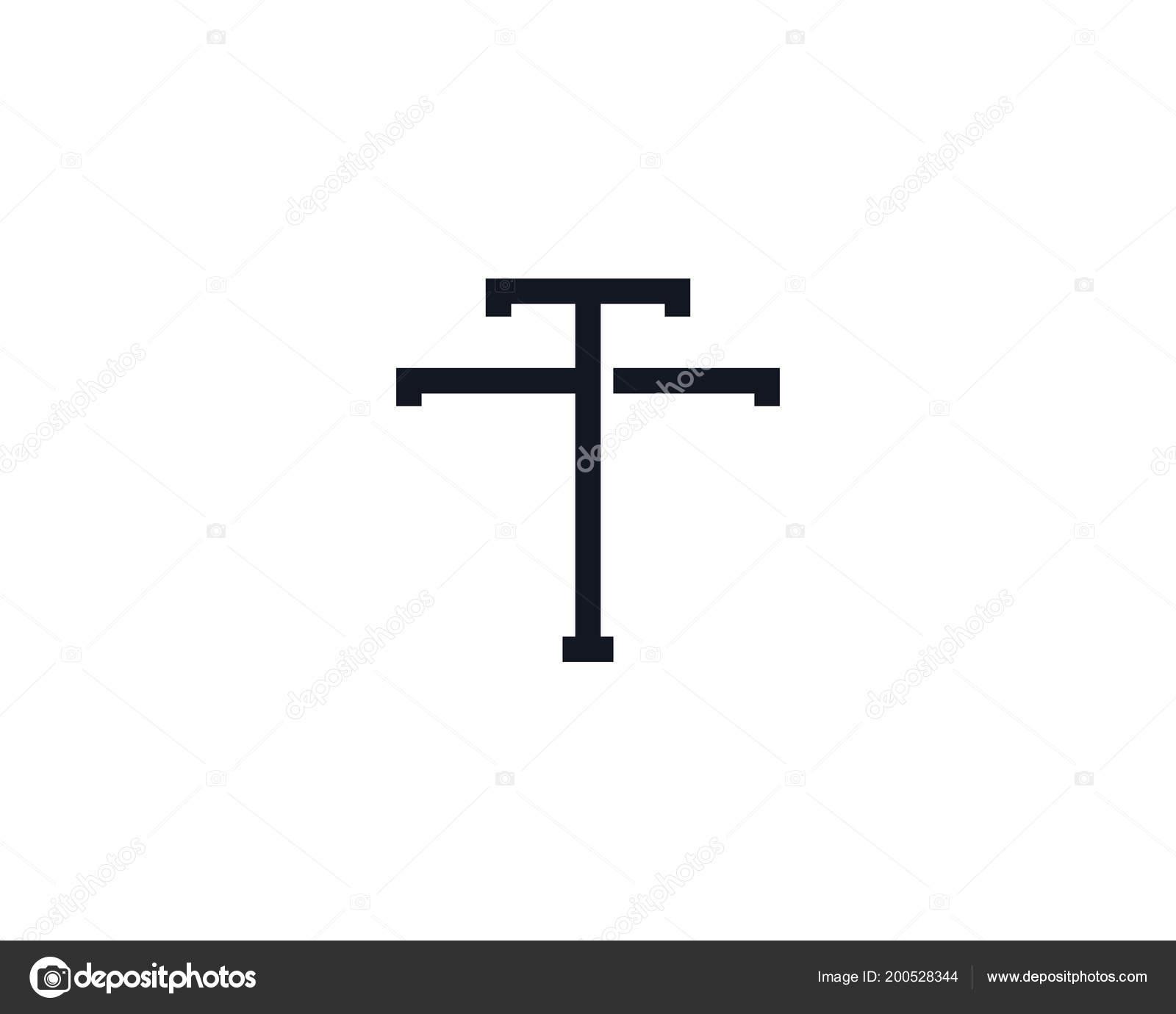 Monogram Letter Logo Design Template Stock Vector