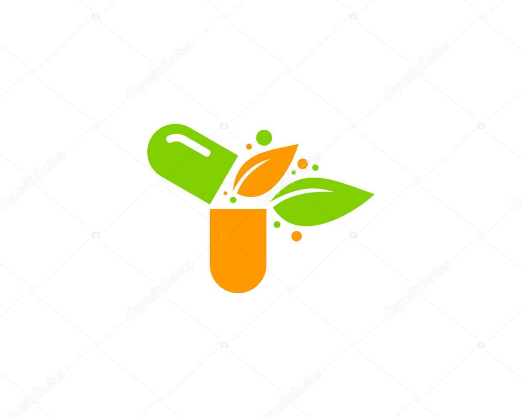 Eco Medicine Logo Icon Design