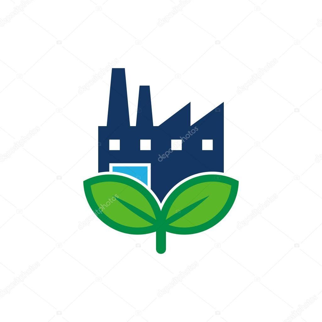 Factory Nature Logo Icon Design