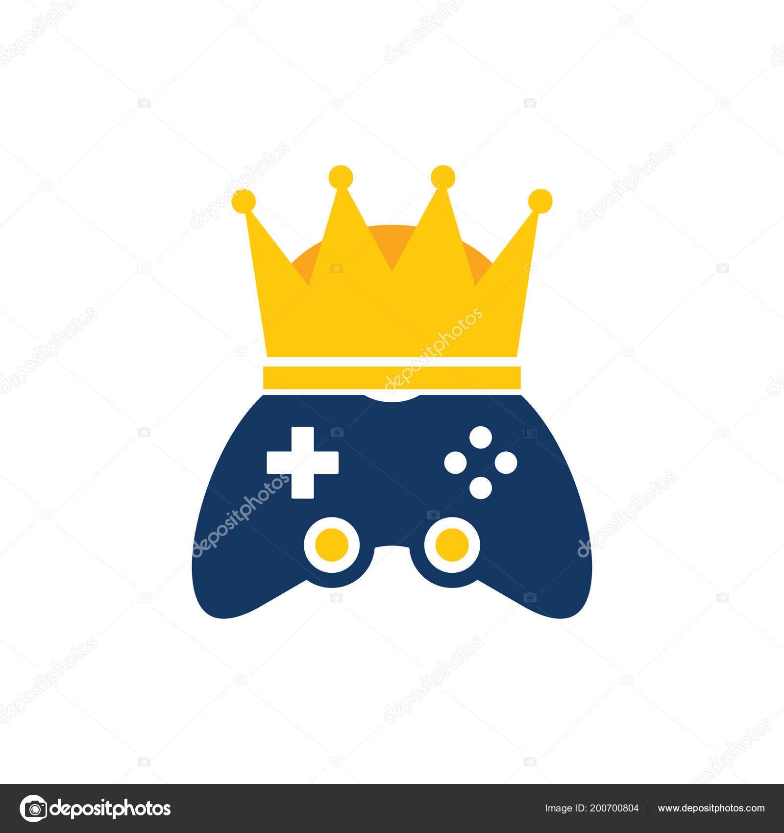 Kral Oyun Logo Simge Tasarım Stok Vektör Putracetol 200700804