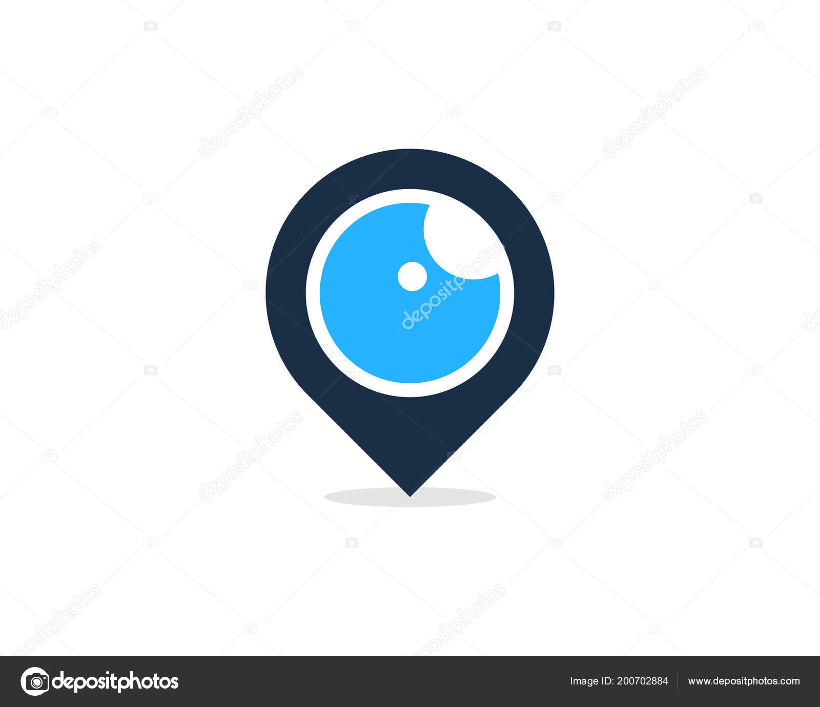 pin eye logo icon design stock vector putracetol 200702884