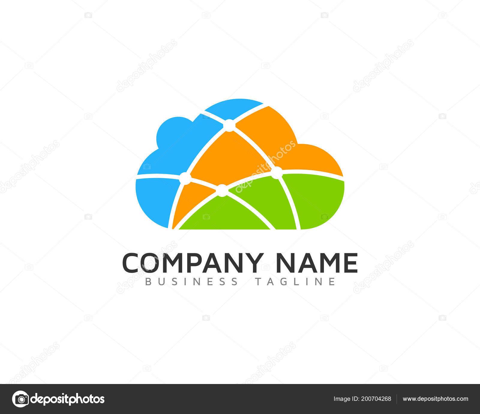 link cloud logo icon design stock vector putracetol 200704268