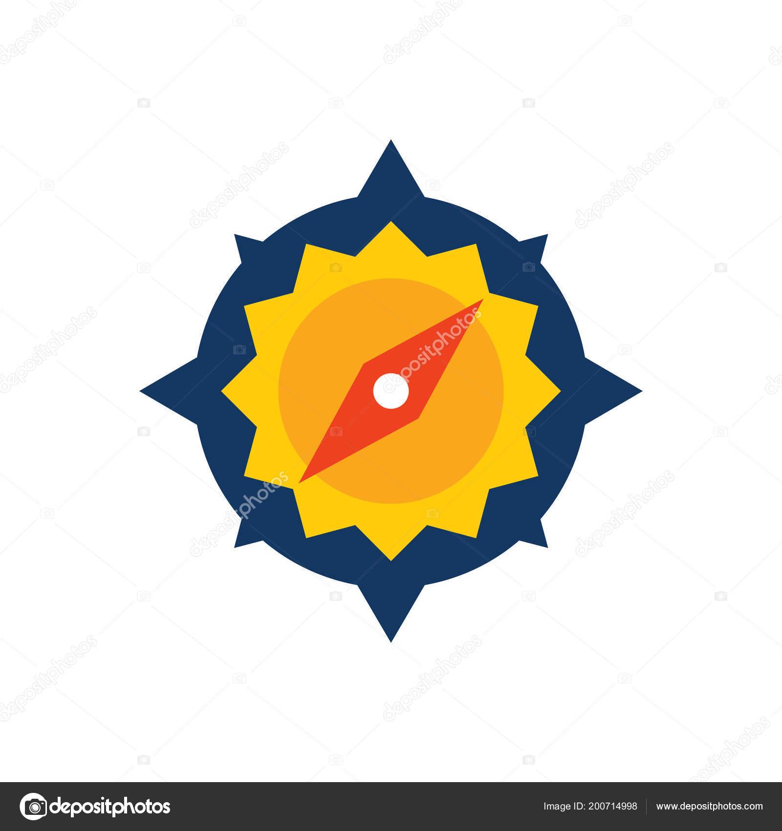 b9aad87d9d Ήλιος Πυξίδα Εικονίδιο Σχεδιασμός Λογοτύπου — Διανυσματικό Αρχείο ...