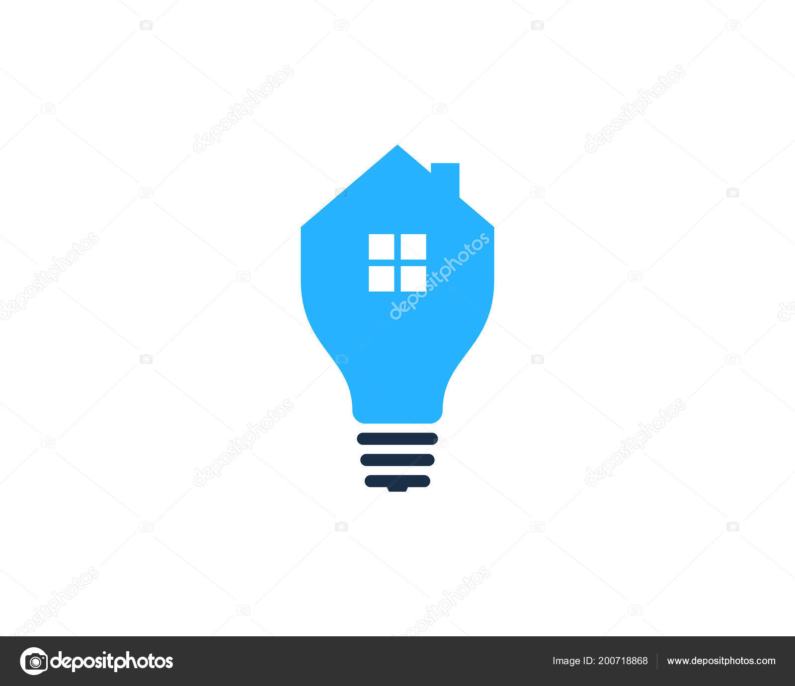 Home Idea Logo Icon Design Stock Vector Putracetol
