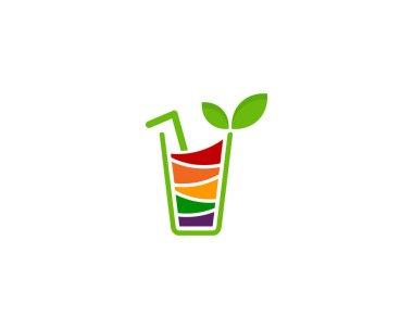 Drink Fruit Logo Icon Design