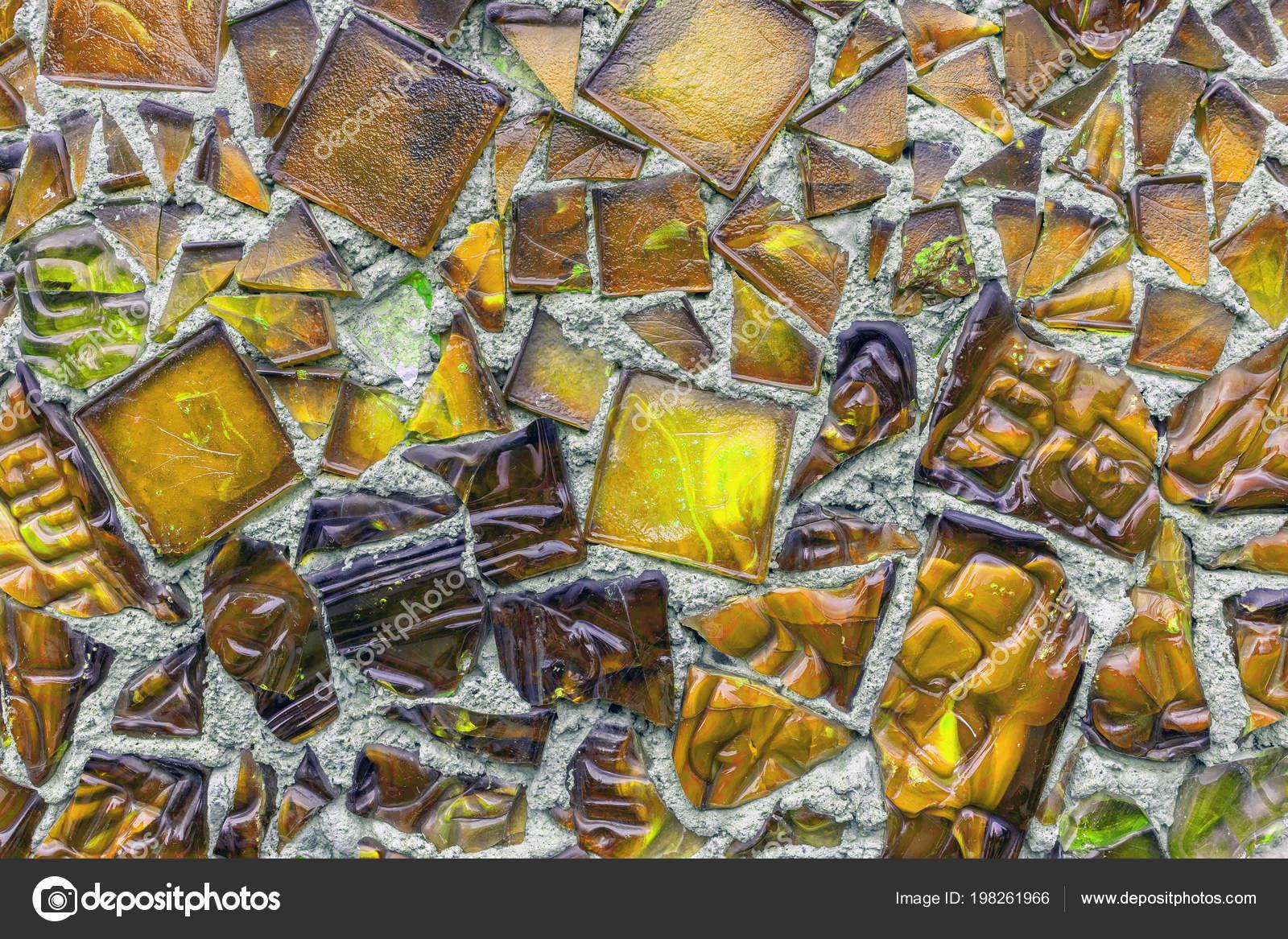 Décoration Murale Carreaux Verre Vintage Orange Photographie