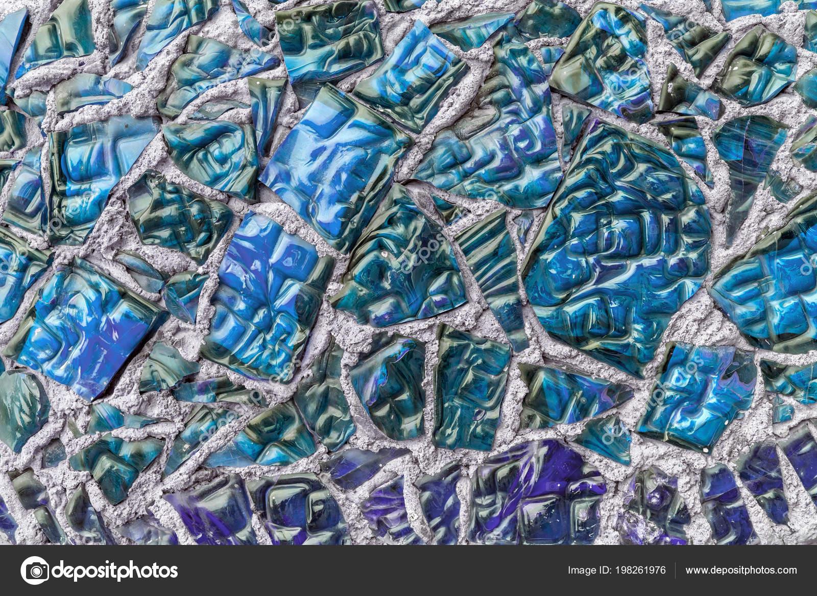 Vetro vintage blu piastrelle parete decorazione u2014 foto stock
