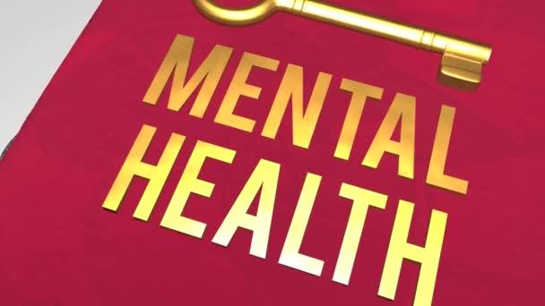 Kulcs a mentális egészség koncepció lövés
