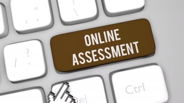 Online Assessment Content keyboard key animation shot shot