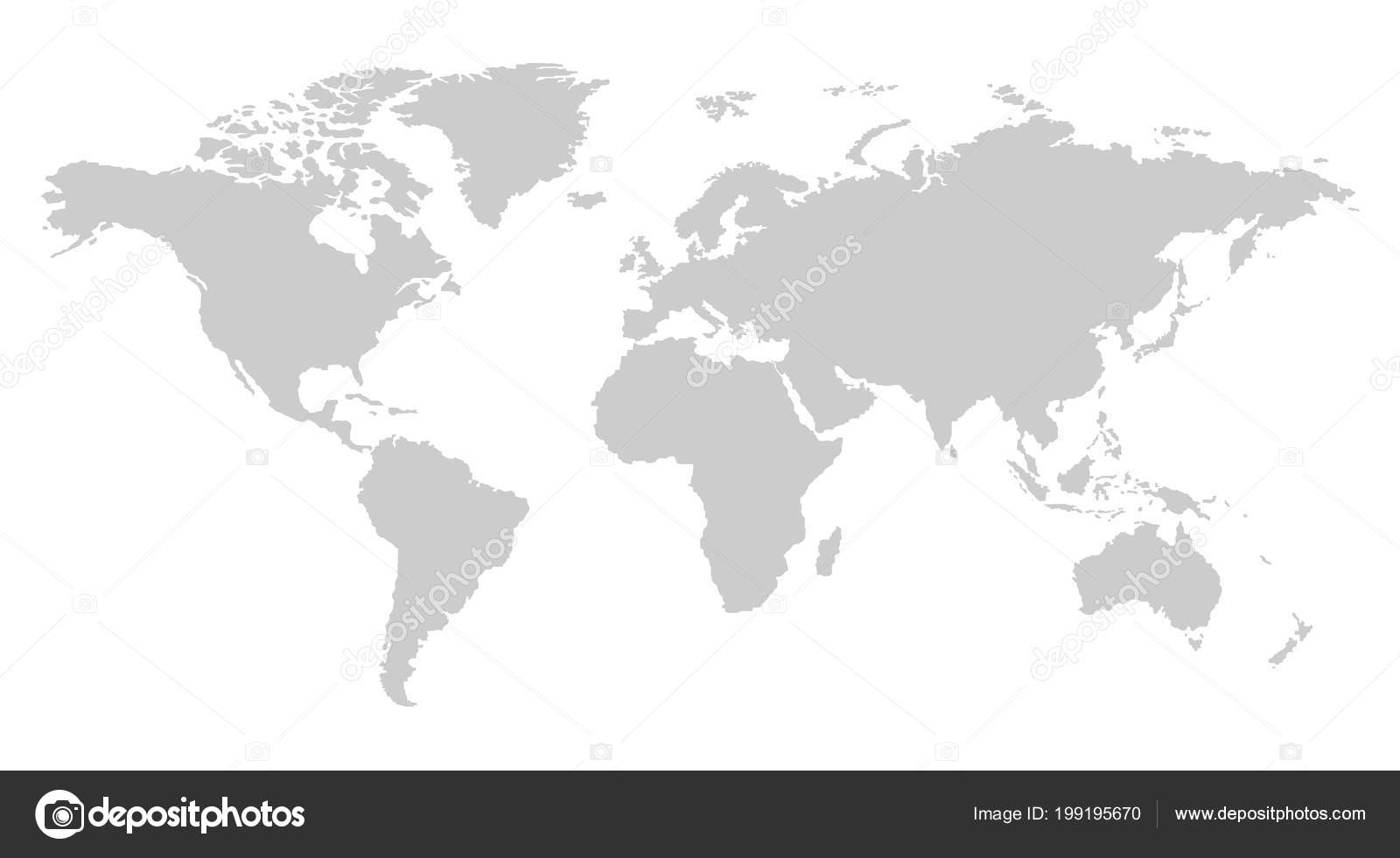 One color grey world map isolated transparent background world one color grey world map isolated transparent background world vector stock vector gumiabroncs Images