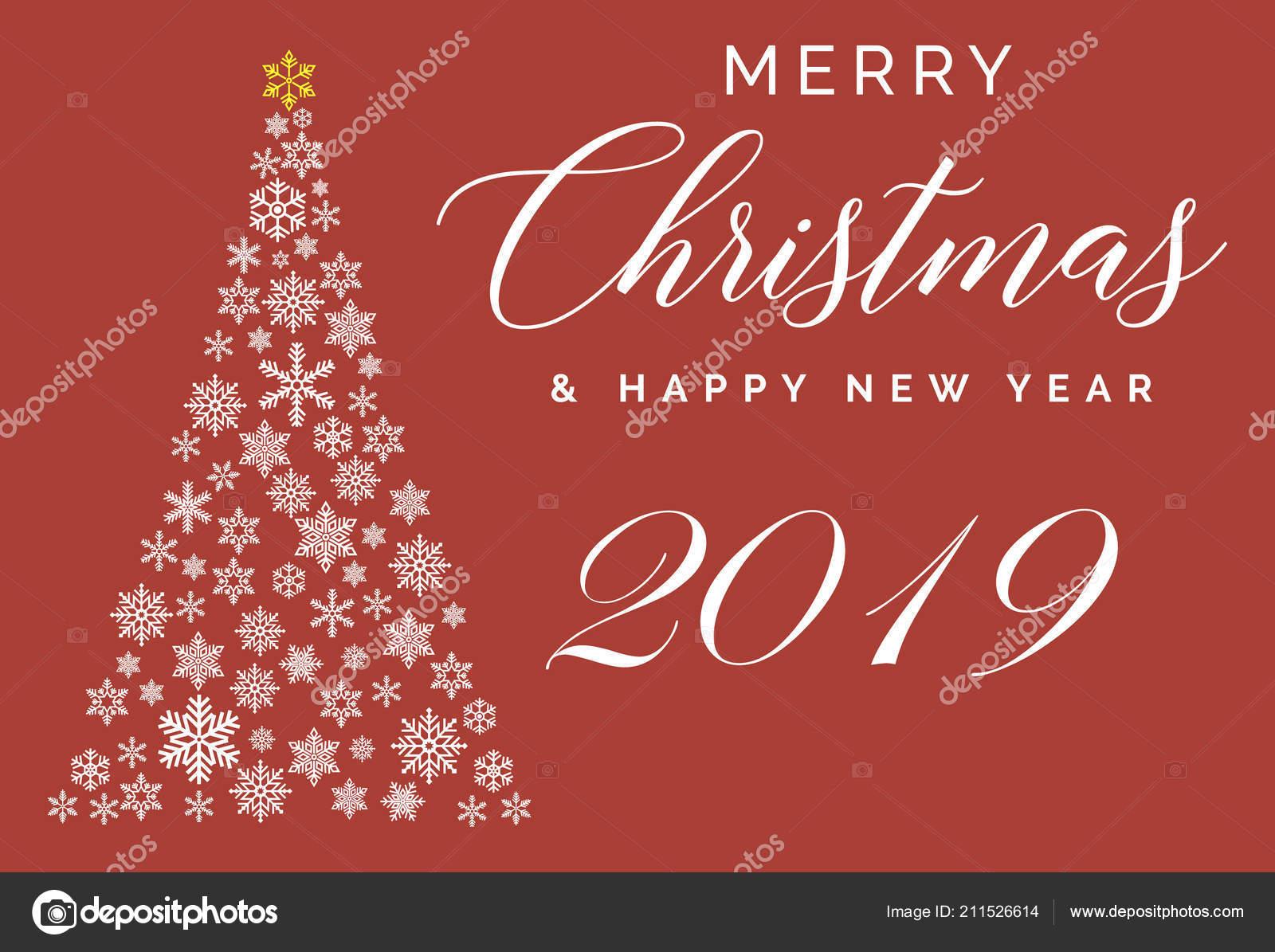 Frohe Weihnachten Und Happy New Year.Frohe Weihnachten Und Happy New Year 2019 Schriftzug Vorlage