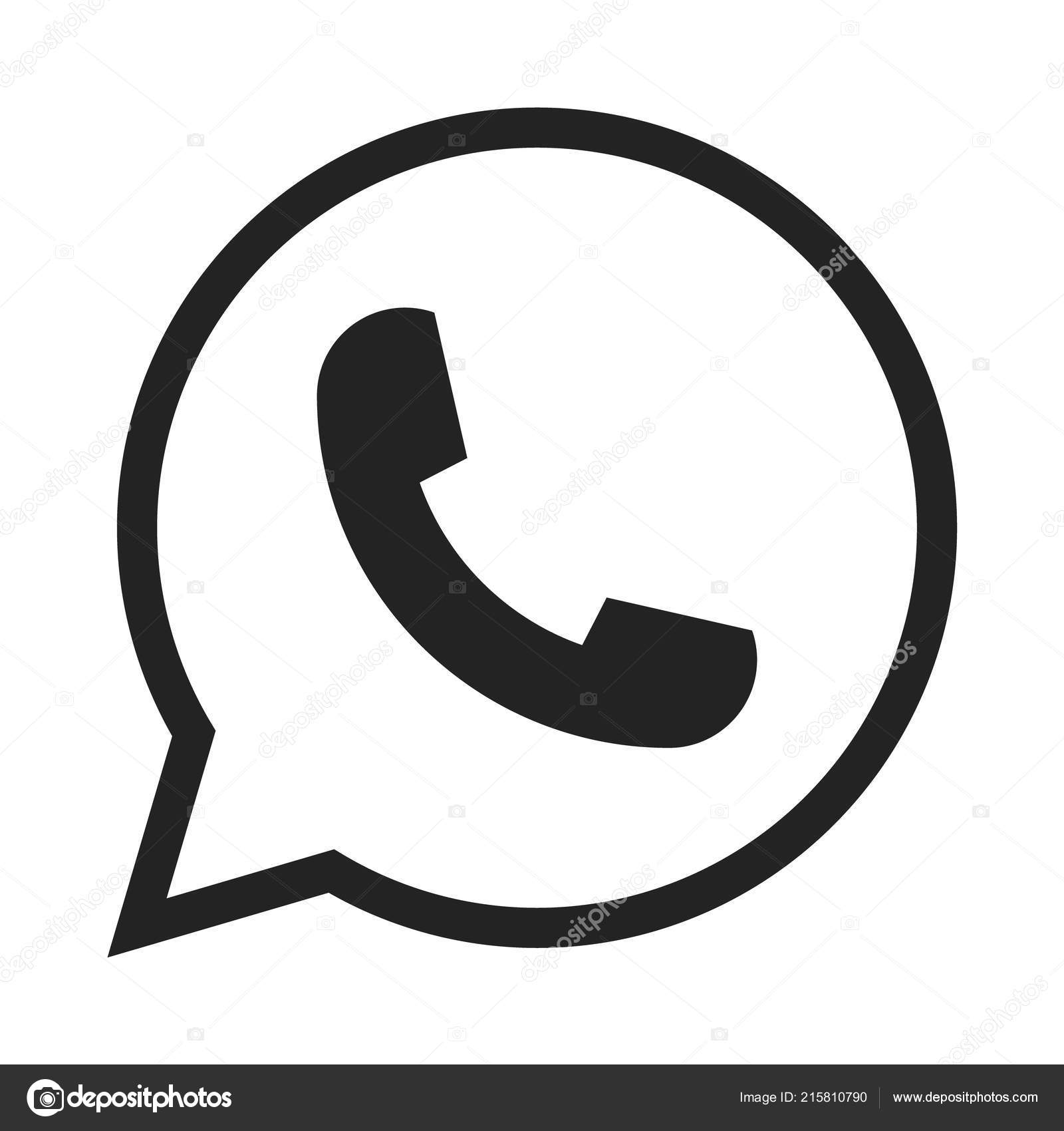 Telephone Icon Symbol Vector Whatsapp Logo Symbol Phone